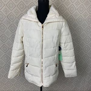 🎉NWT Cavalini Ivory Quilted Puffer Jacket HP!🎉